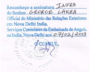 Agreement Attestation for Angola in Chennai, Agreement Legalization for Angola , Birth Certificate Attestation for Angola in Chennai, Birth Certificate legalization for Angola in Chennai, Board of Resolution Attestation for Angola in Chennai, certificate Attestation agent for Angola in Chennai, Certificate of Origin Attestation for Angola in Chennai, Certificate of Origin Legalization for Angola in Chennai, Commercial Document Attestation for Angola in Chennai, Commercial Document Legalization for Angola in Chennai, Degree certificate Attestation for Angola in Chennai, Degree Certificate legalization for Angola in Chennai, Birth certificate Attestation for Angola , Diploma Certificate Attestation for Angola in Chennai, Engineering Certificate Attestation for Angola , Experience Certificate Attestation for Angola in Chennai, Export documents Attestation for Angola in Chennai, Export documents Legalization for Angola in Chennai, Free Sale Certificate Attestation for Angola in Chennai, GMP Certificate Attestation for Angola in Chennai, HSC Certificate Attestation for Angola in Chennai, Invoice Attestation for Angola in Chennai, Invoice Legalization for Angola in Chennai, marriage certificate Attestation for Angola , Marriage Certificate Attestation for Angola in Chennai, Chennai issued Marriage Certificate legalization for Angola , Medical Certificate Attestation for Angola , NOC Affidavit Attestation for Angola in Chennai, Packing List Attestation for Angola in Chennai, Packing List Legalization for Angola in Chennai, PCC Attestation for Angola in Chennai, POA Attestation for Angola in Chennai, Police Clearance Certificate Attestation for Angola in Chennai, Power of Attorney Attestation for Angola in Chennai, Registration Certificate Attestation for Angola in Chennai, SSC certificate Attestation for Angola in Chennai, Transfer Certificate Attestation for Angola